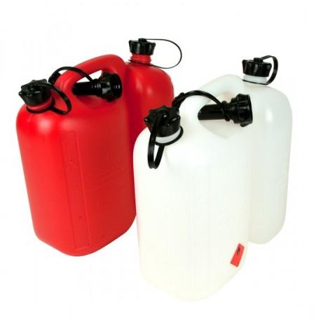 Kanister do paliwa 5L i oleju 3L czerwony z dozownikiem