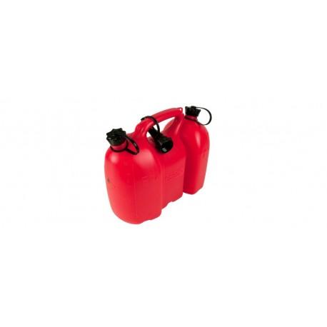 Kanister do paliwa 6L i oleju 3L czerwony z dozownikiem