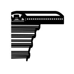 Hammasrihm murutraktorile 160cm Castelgarden TC102,Solo 570,Stiga Estste 102 - blade drive (1600DS8M20) (35065600)